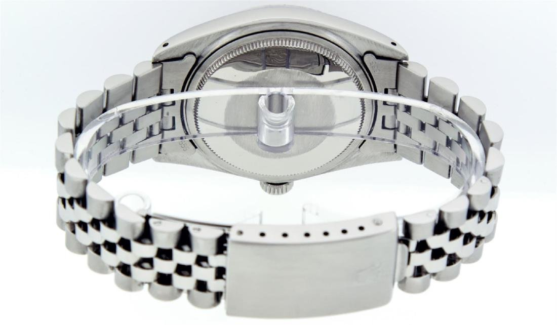 Rolex Men's Stainless Steel Mother Of Pearl Diamond & - 7