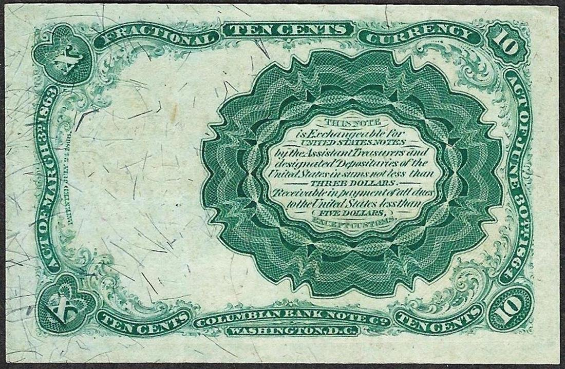 1874 10 Cents Fifth Issue Fractional Currency Note - 2