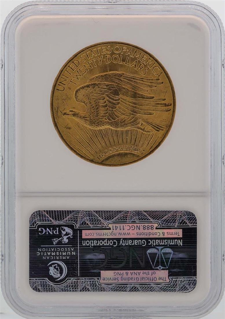 1924 $20 St. Gaudens Double Eagle Gold Coin NGC MS64 - 2
