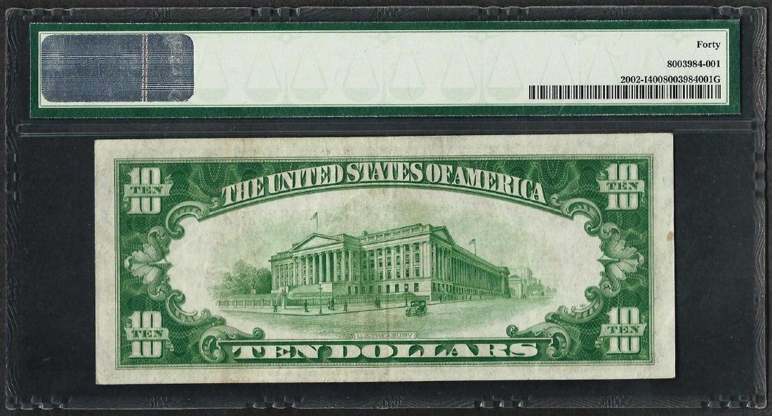 1928B $10 Federal Reserve Note Minneapolis Fr.2002-I - 2