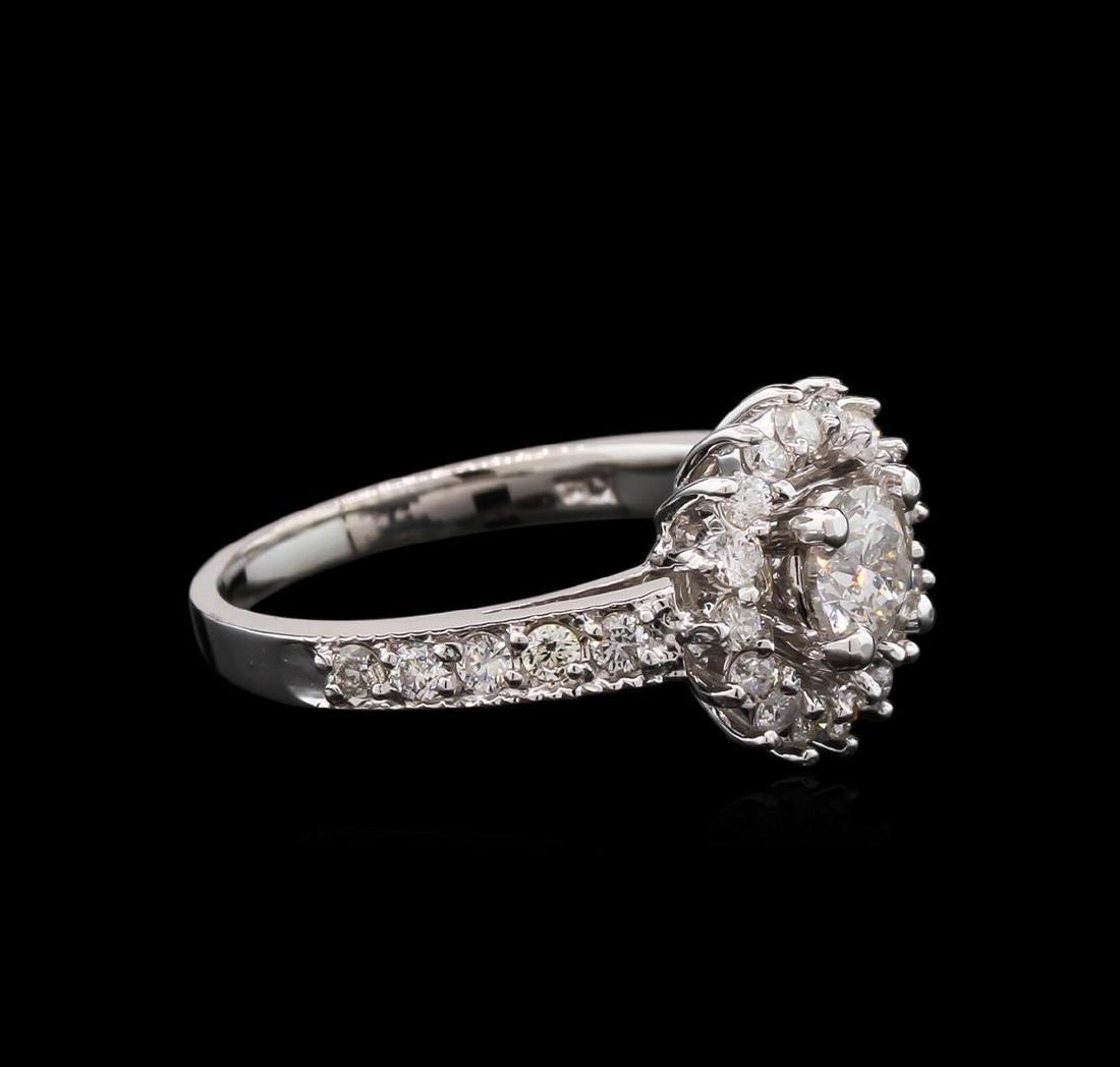 14KT White Gold 1.04 ctw Diamond Ring - 2