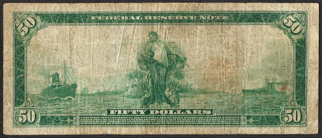 1914 $50 Federal Reserve Note Cleveland - 2