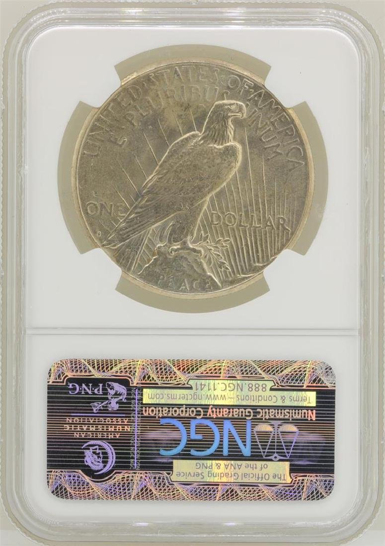 1924-S $1 Peace Silver Dollar Coin NGC MS63 - 2