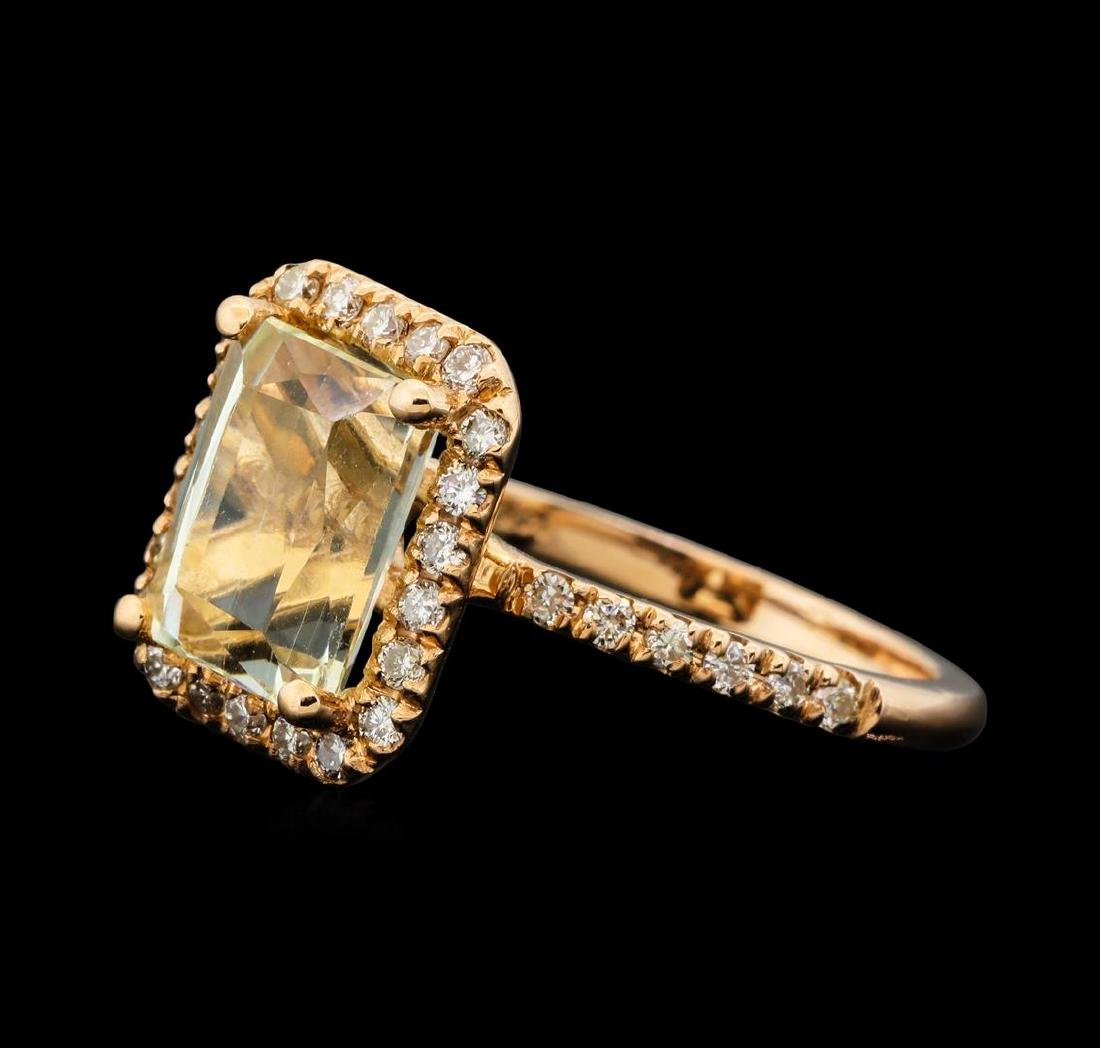 14KT Rose Gold 3.05 ctw Citrine and Diamond Ring - 2
