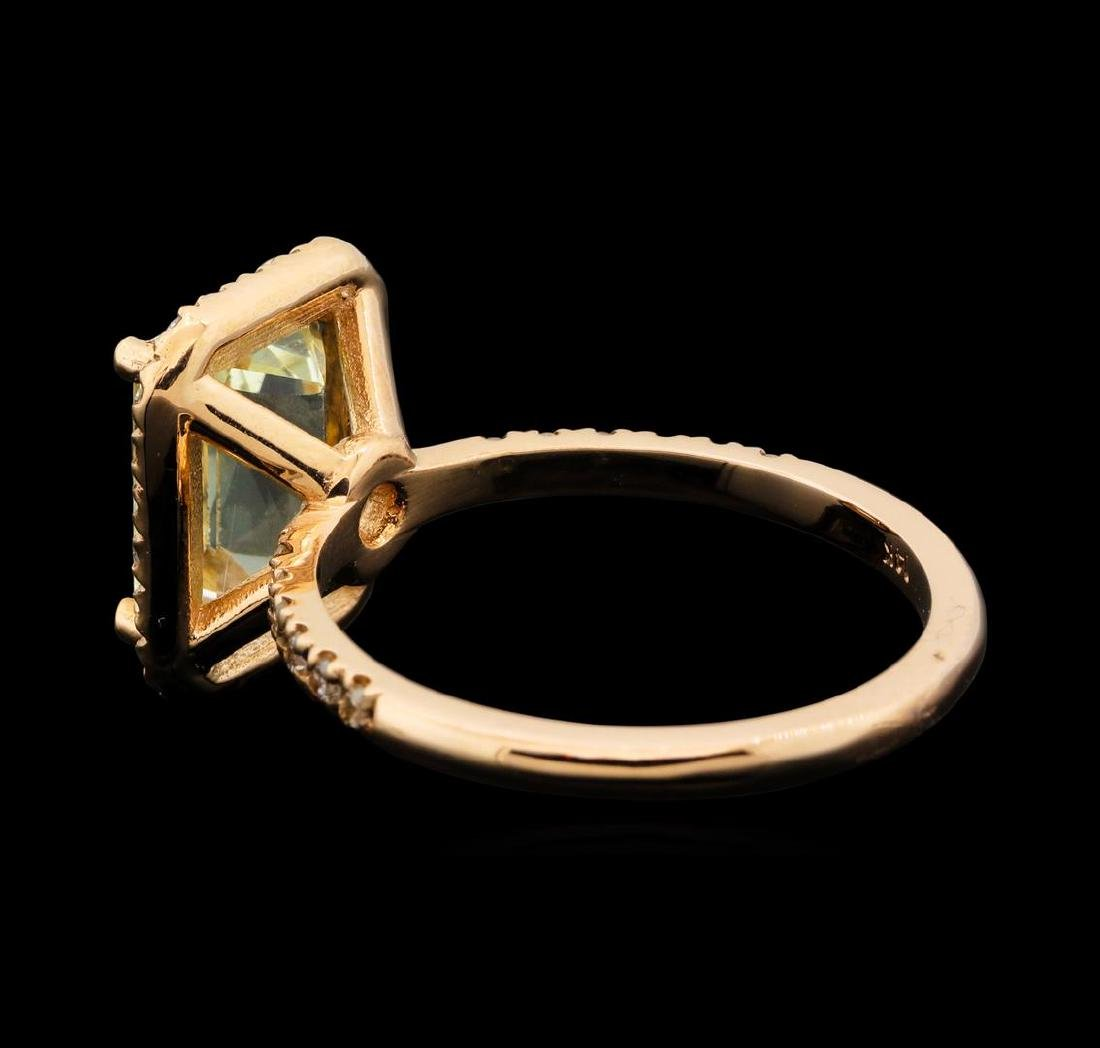 14KT Rose Gold 3.05 ctw Citrine and Diamond Ring - 3