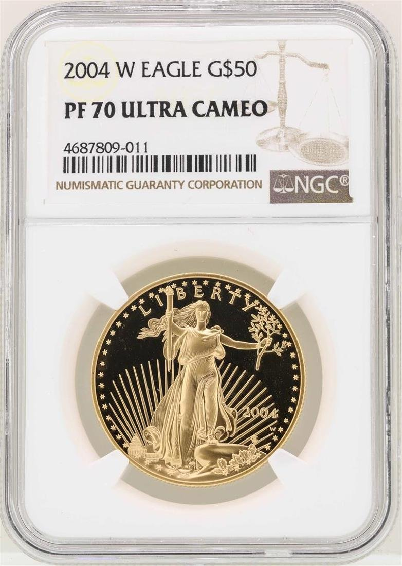 2004-W $50 American Gold Eagle Coin NGC PF70 Ultra