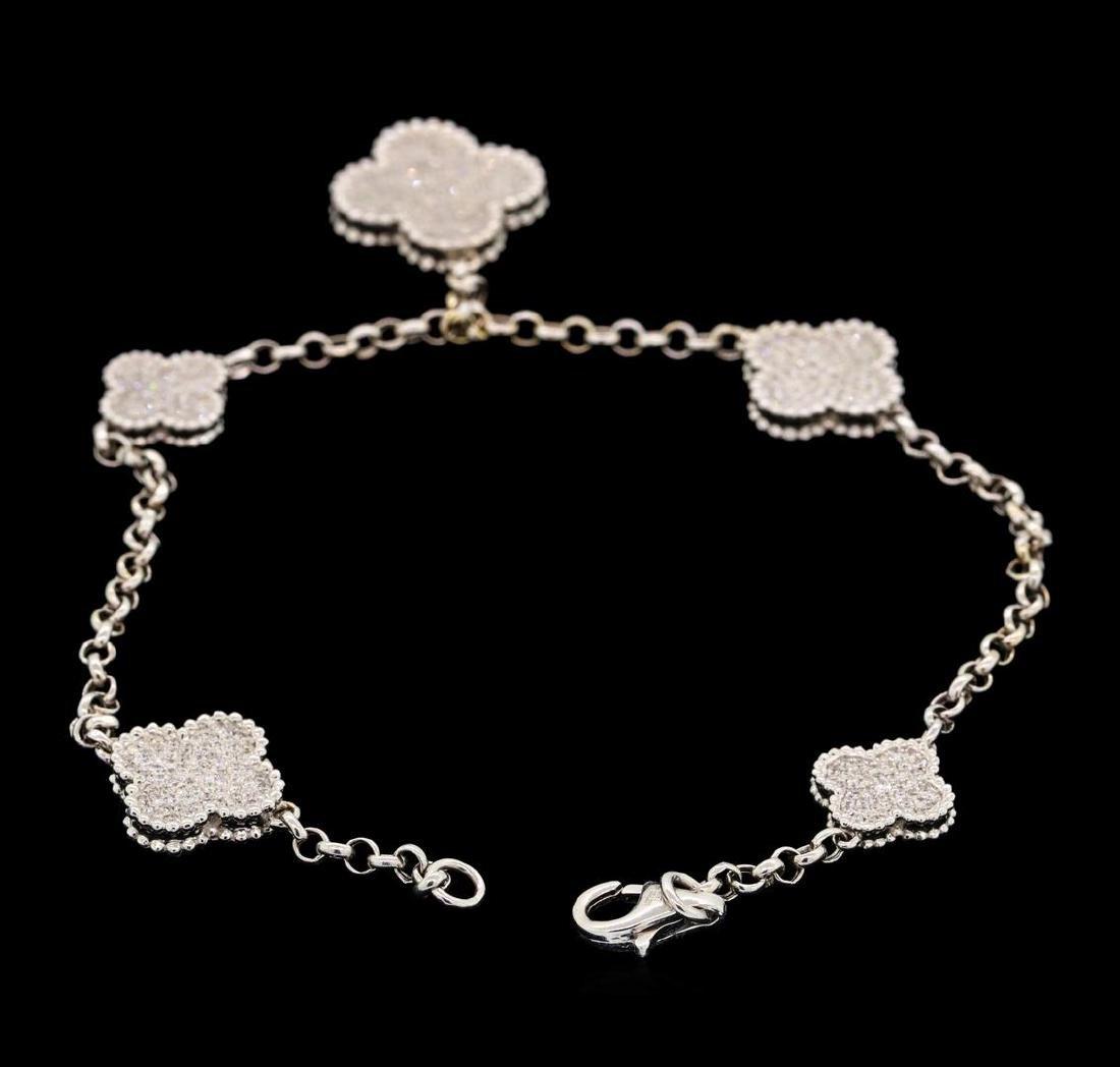 18KT White Gold 1.64 ctw Diamond Bracelet - 2