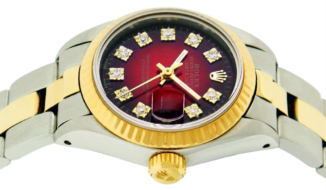 Rolex Ladies Two Tone 14K Red Vignette Diamond 26MM - 3