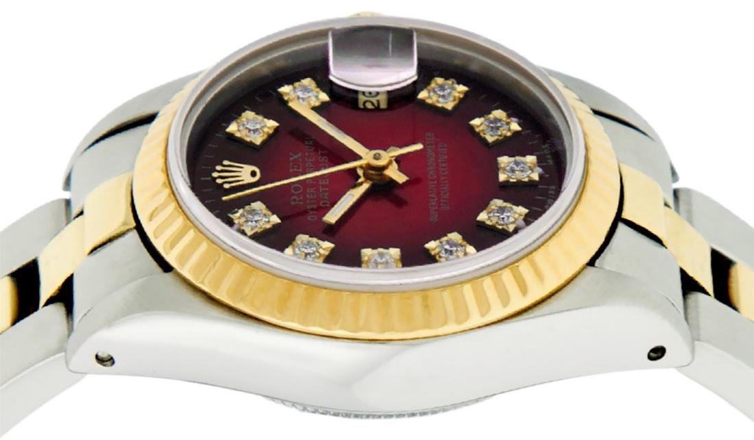 Rolex Ladies Two Tone 14K Red Vignette Diamond 26MM - 4