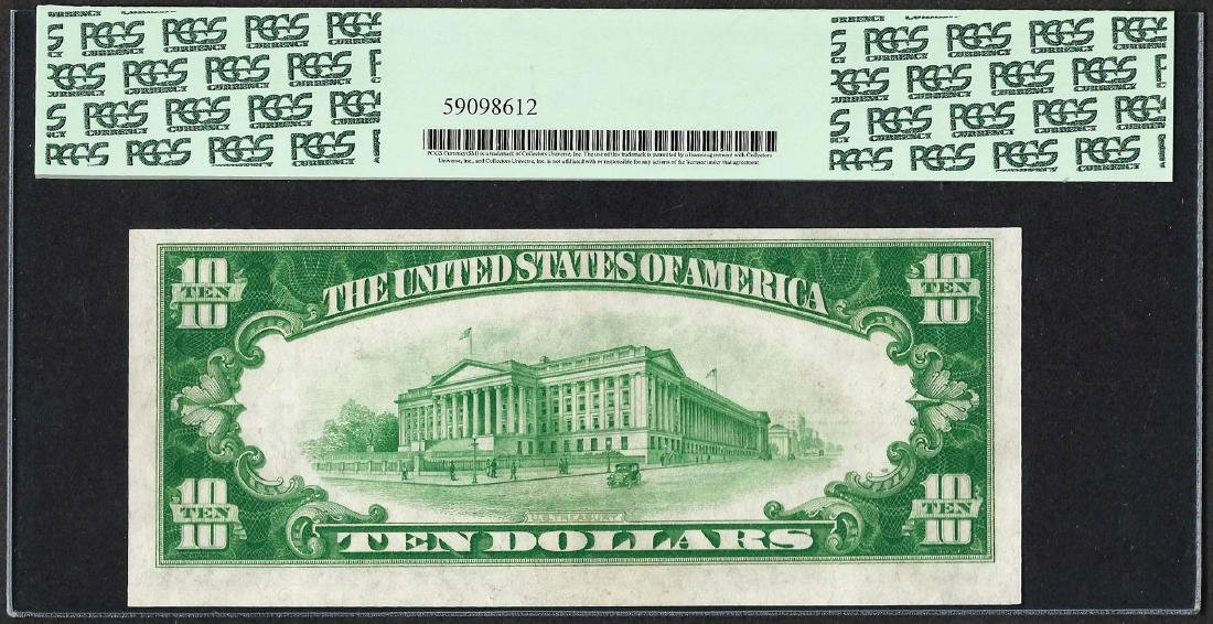 1928 $10 Gold Certificate Note Fr.2400 PCGS About New - 2