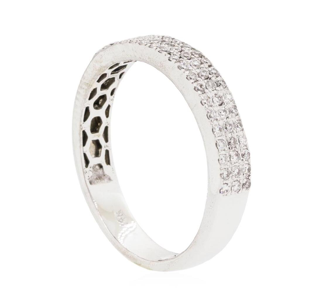14KT White Gold 0.70 ctw Diamond Ring - 3