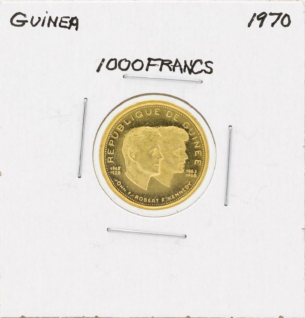 1970 Guinea 1000 Francs Gold Coin