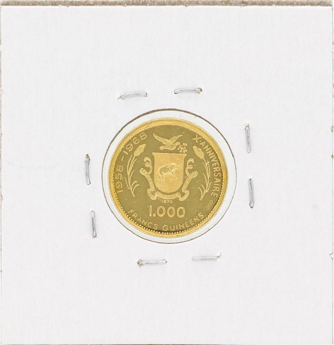 1970 Guinea 1000 Francs Gold Coin - 2