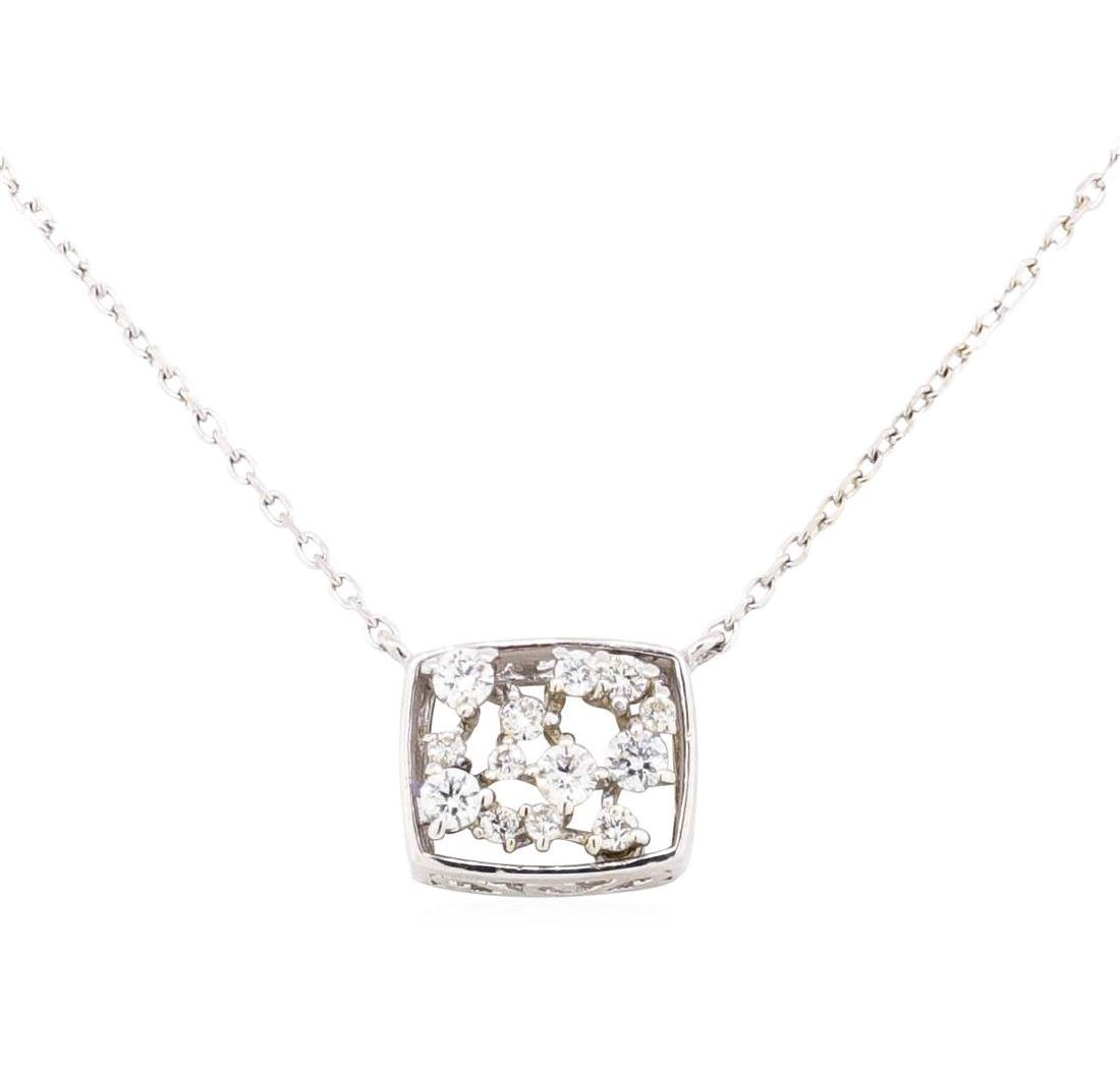 14KT White Gold 0.15 ctw Diamond Necklace