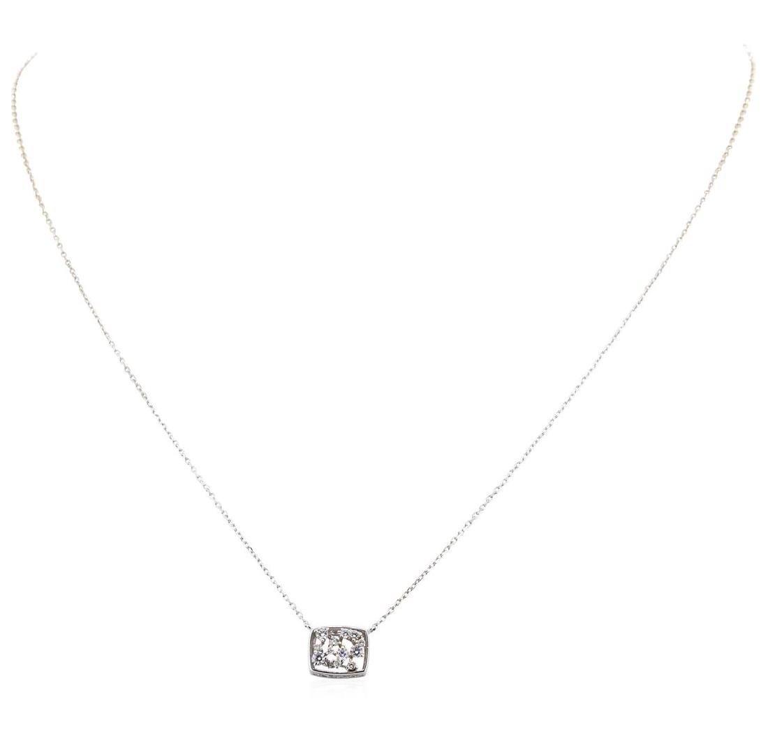 14KT White Gold 0.15 ctw Diamond Necklace - 2