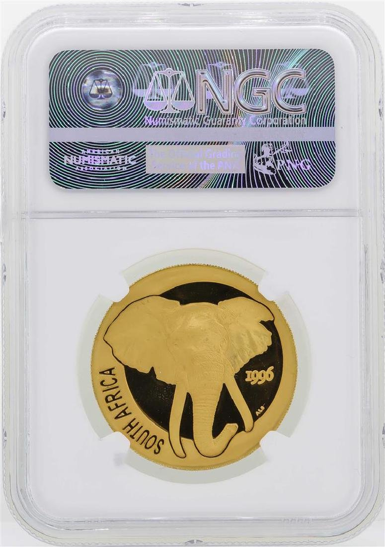 1996 South Africa Natura Elephant 1 oz Gold Coin NGC - 2