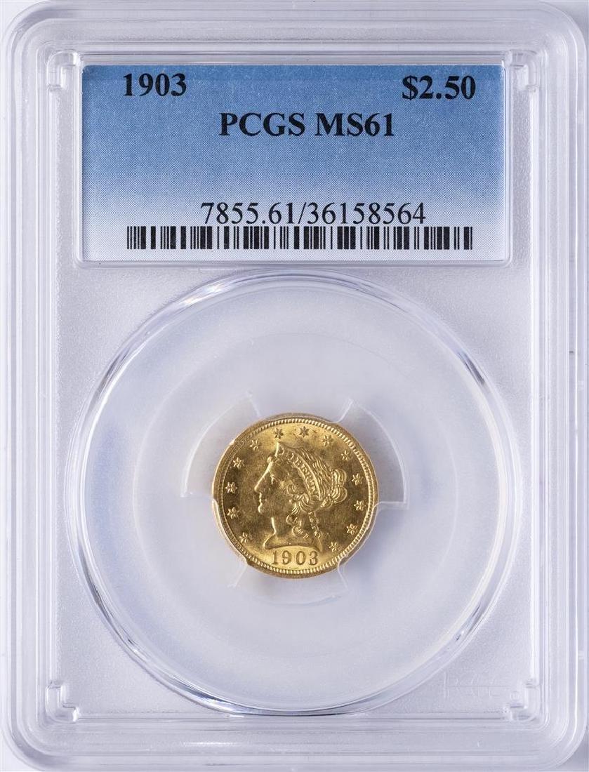 1903 $2 1/2 Liberty Head Quarter Eagle Gold Coin PCGS