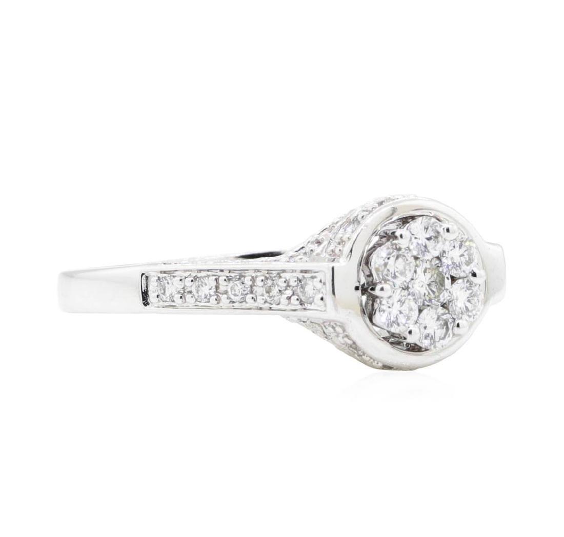 18KT White Gold 0.62 ctw Diamond Wedding Ring