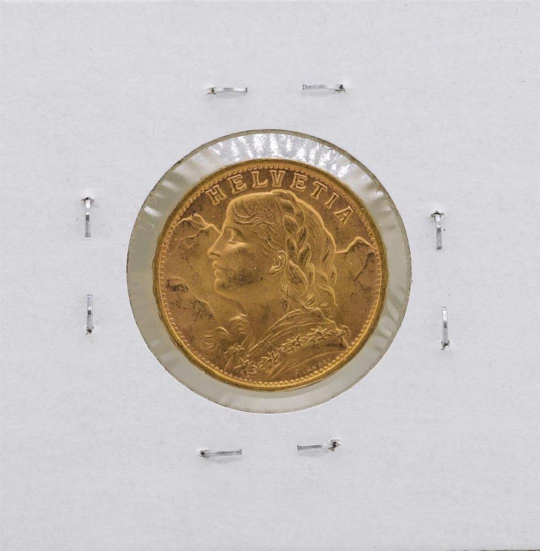 1947-B Switzerland 20 Francs Gold Coin - 2