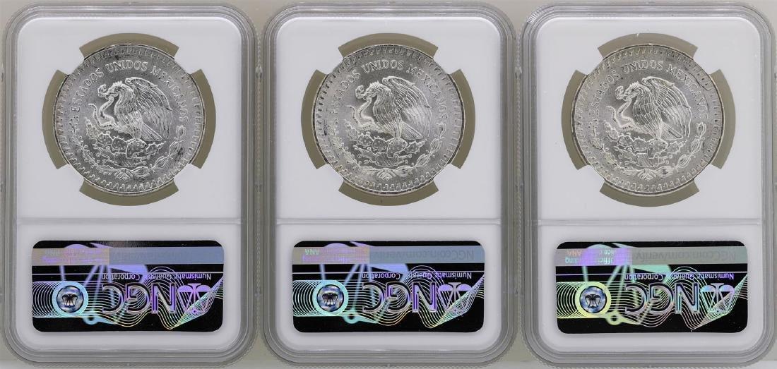 Lot of (3) 1983Mo Mexico Libertad Onza Silver Coins NGC - 2
