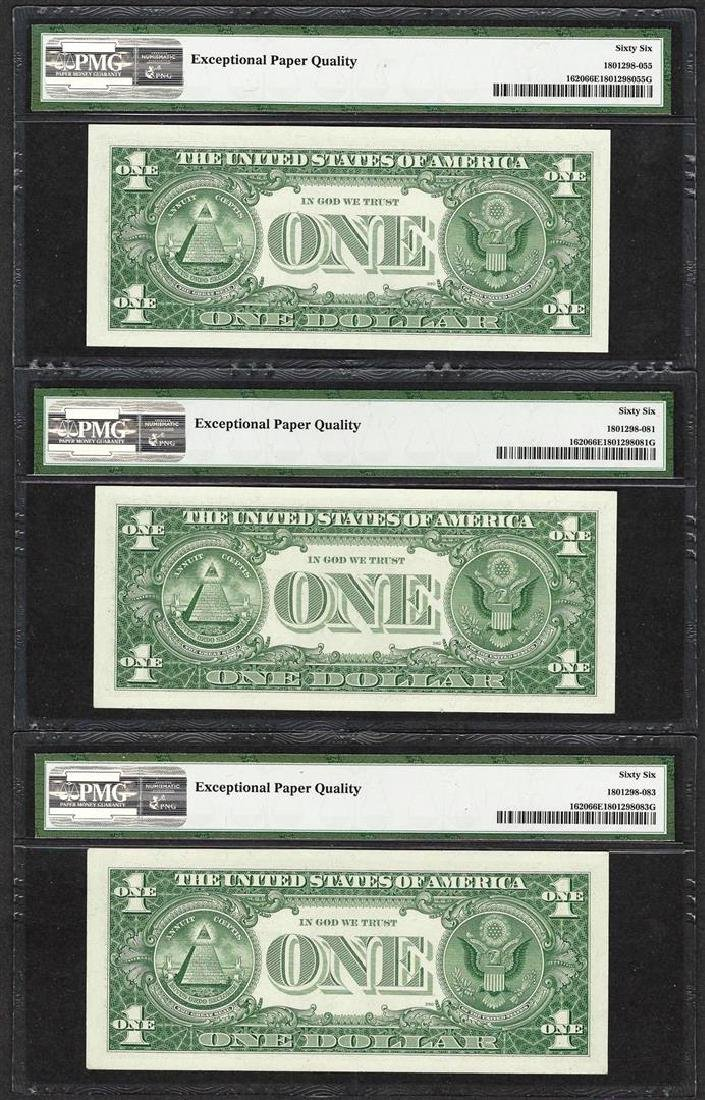 Lot of (3) 1957A $1 Silver Certificate Notes Fr.1620 - 2