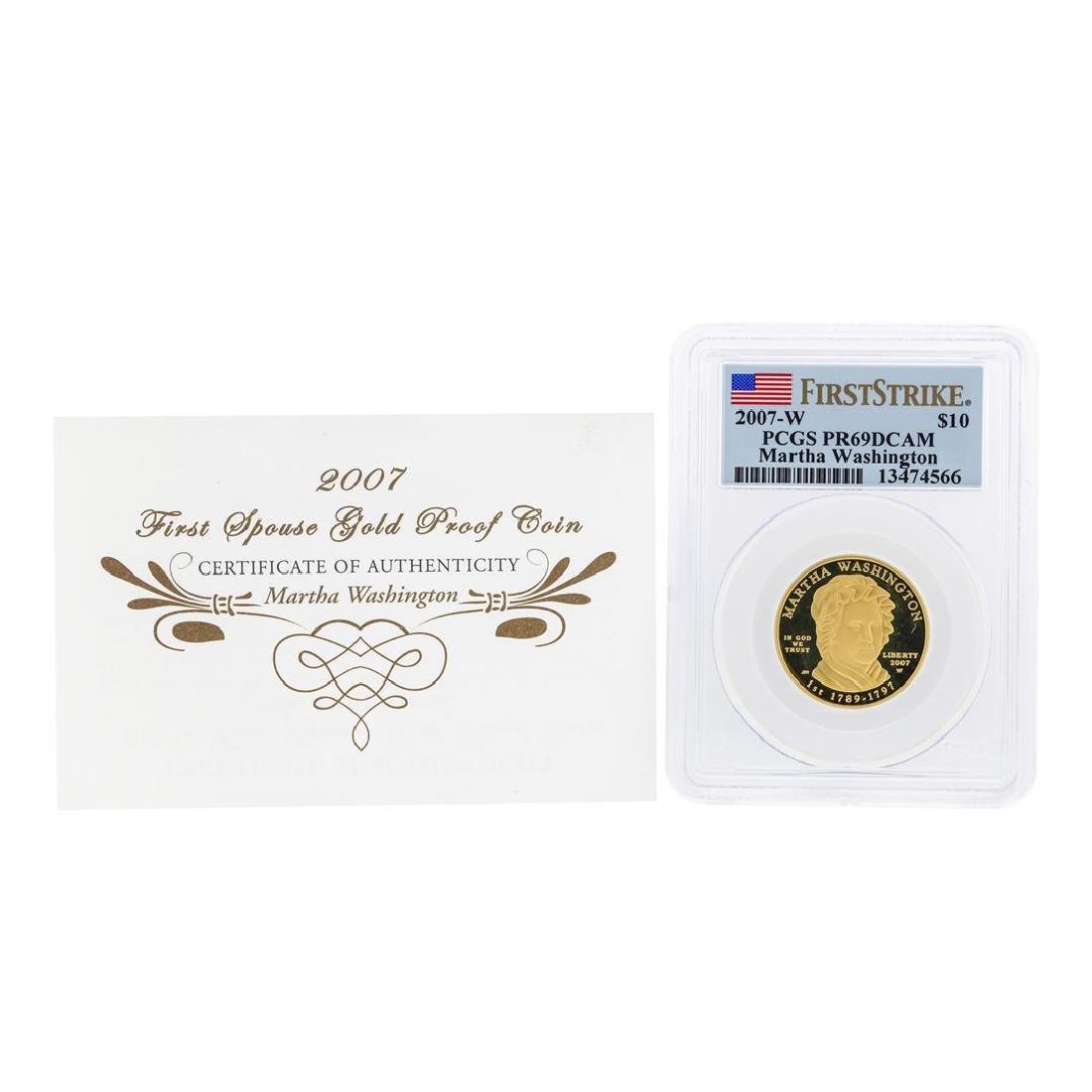 2007-W $10 Martha Washington Commemorative Gold Coin - 3