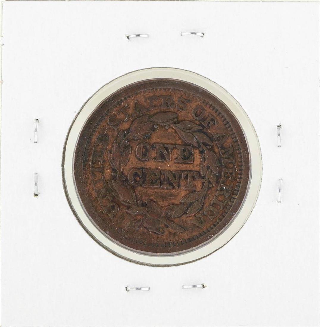 1851 Braided Hair Large Cent Coin - 2
