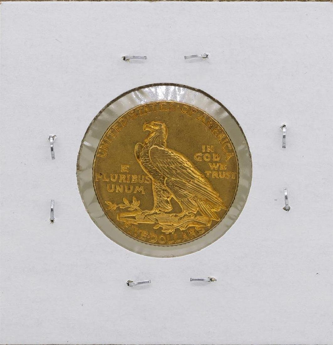 1913 $5 Indian Head Half Eagle Gold Coin - 2