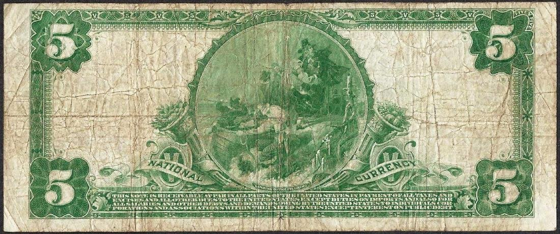 1902 $5 National Currency Note Brotherhood Co-Operative - 2
