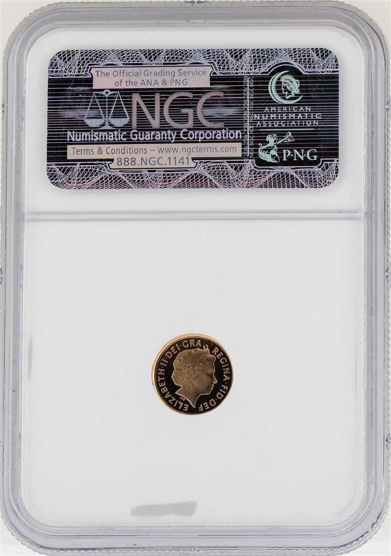 2009 Great Britain 1/4 Sovereign Gold Coin NGC PF69 - 2
