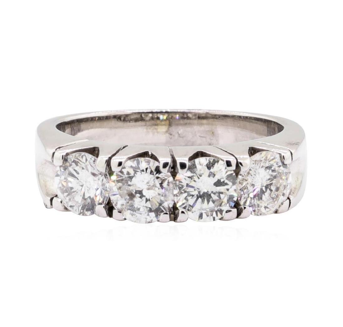 14KT White Gold 1.60 ctw Diamond Ring - 2