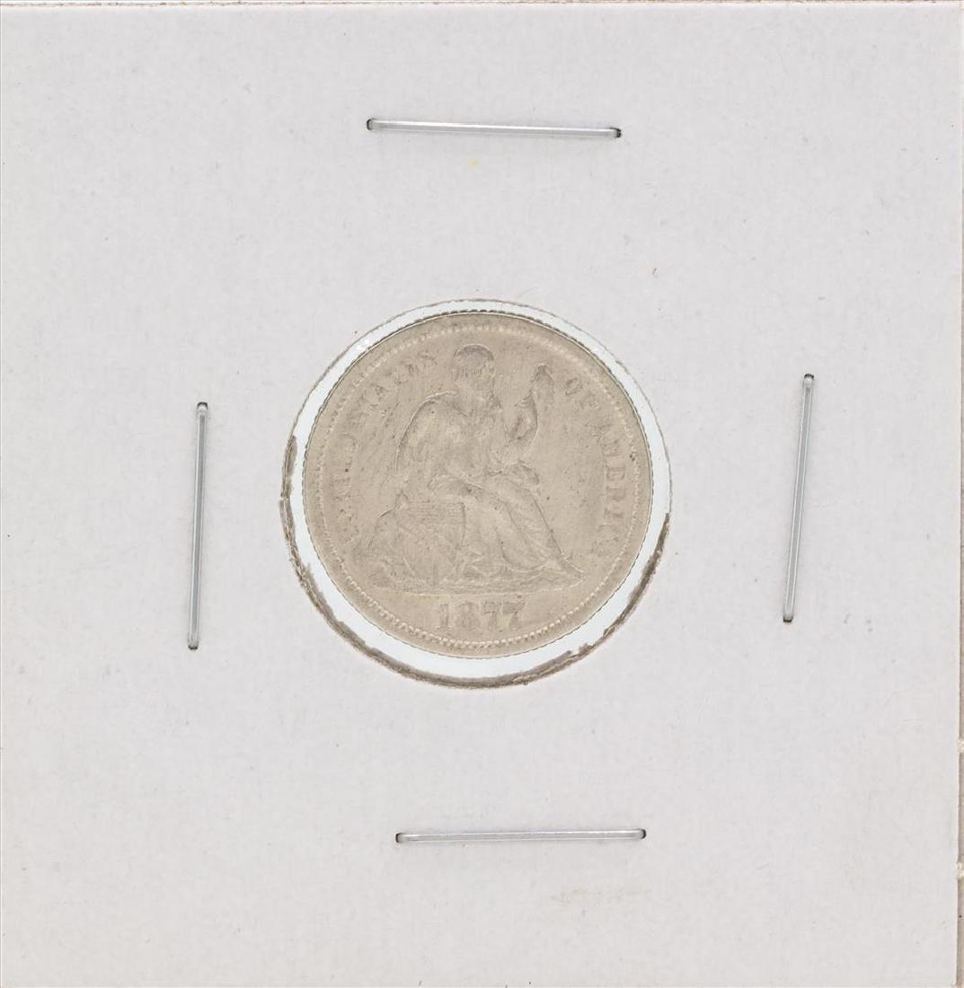 1877-CC Seated Liberty Silver Dime