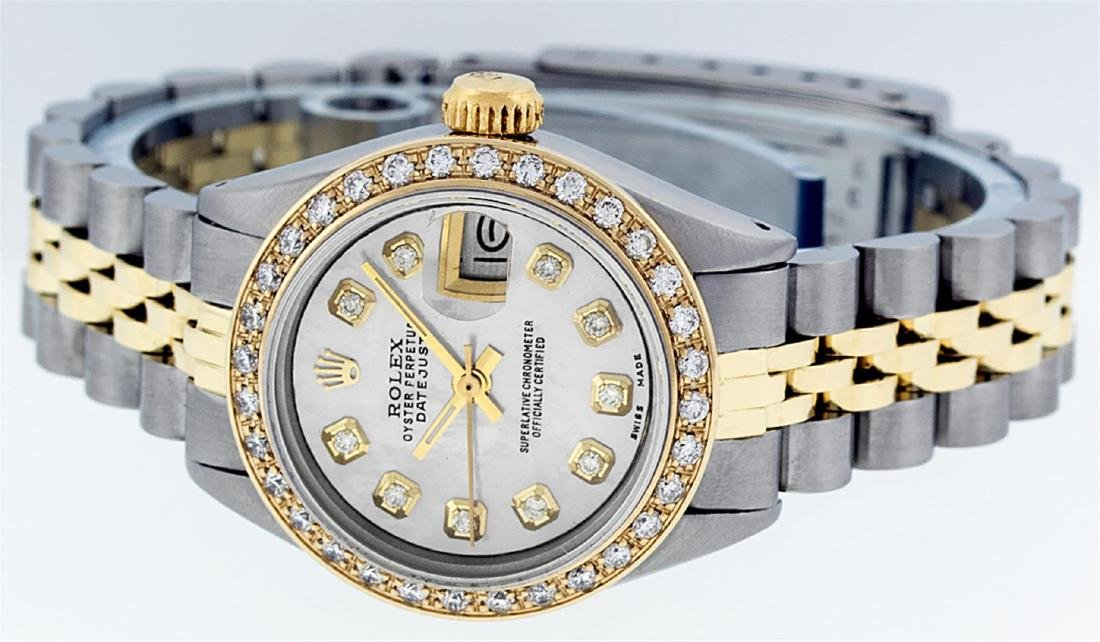 Rolex Ladies Two Tone 14K MOP Diamond Datejust Watch - 4