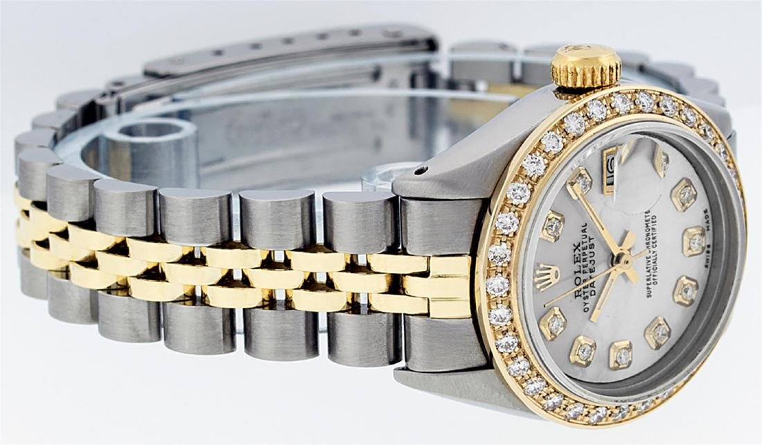 Rolex Ladies Two Tone 14K MOP Diamond Datejust Watch - 5