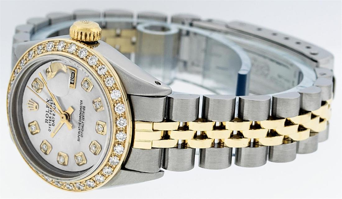 Rolex Ladies Two Tone 14K MOP Diamond Datejust Watch - 6