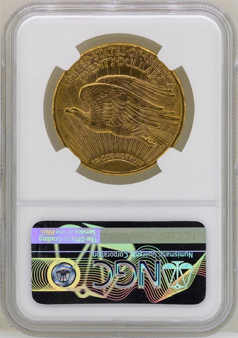 1915-S $20 St. Gaudens Double Eagle Gold Coin NGC MS63 - 2