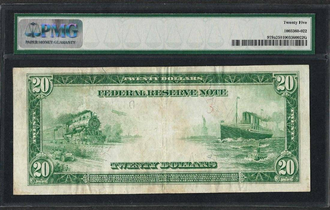 1914 $20 Federal Reserve Note Cleveland Fr.979a PMG - 2
