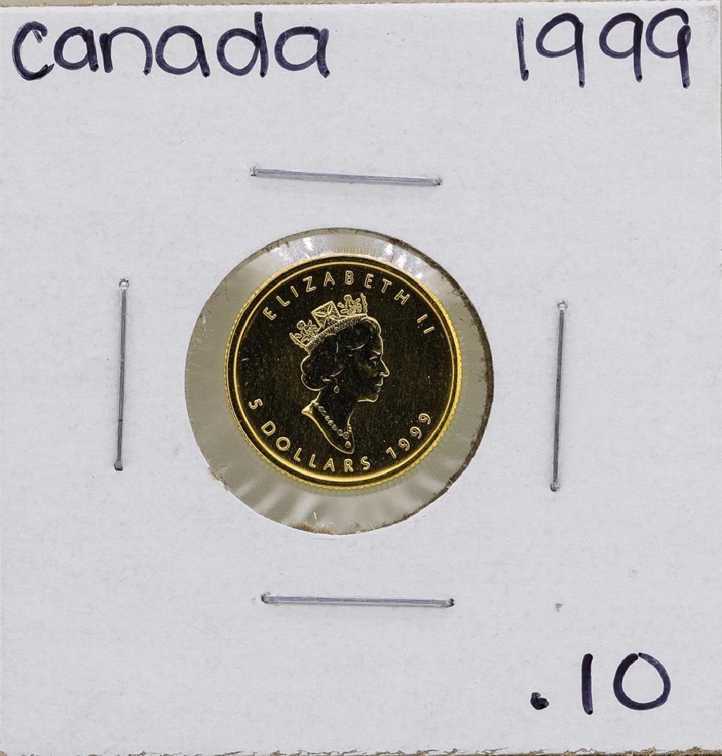 1999 $5 Canada 1/10 oz. Gold Maple Leaf Coin