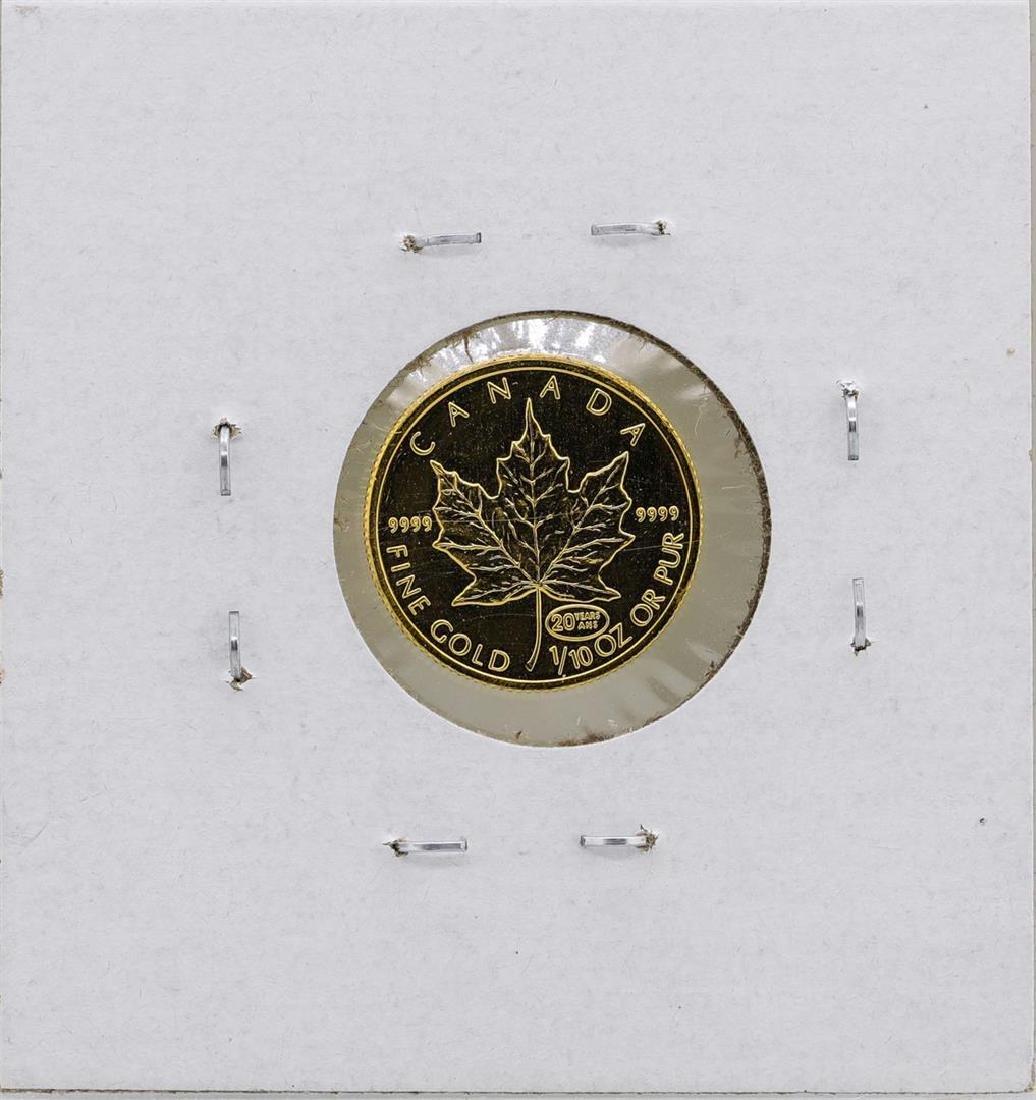 1999 $5 Canada 1/10 oz. Gold Maple Leaf Coin - 2