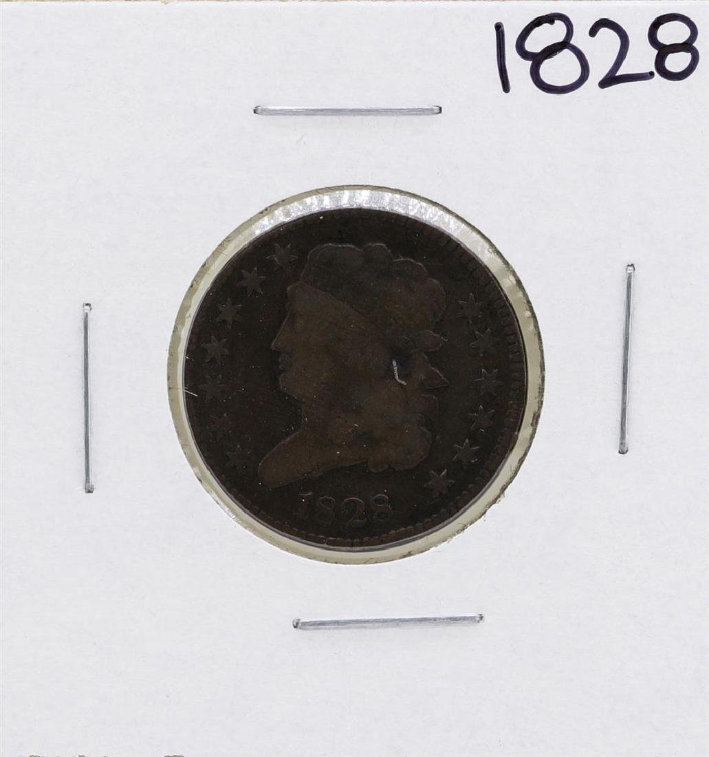 1828 Draped Bust Half Cent Coin