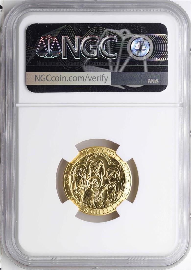 2000 Austria 500 Schillings Birth of Christ Gold Coin - 2