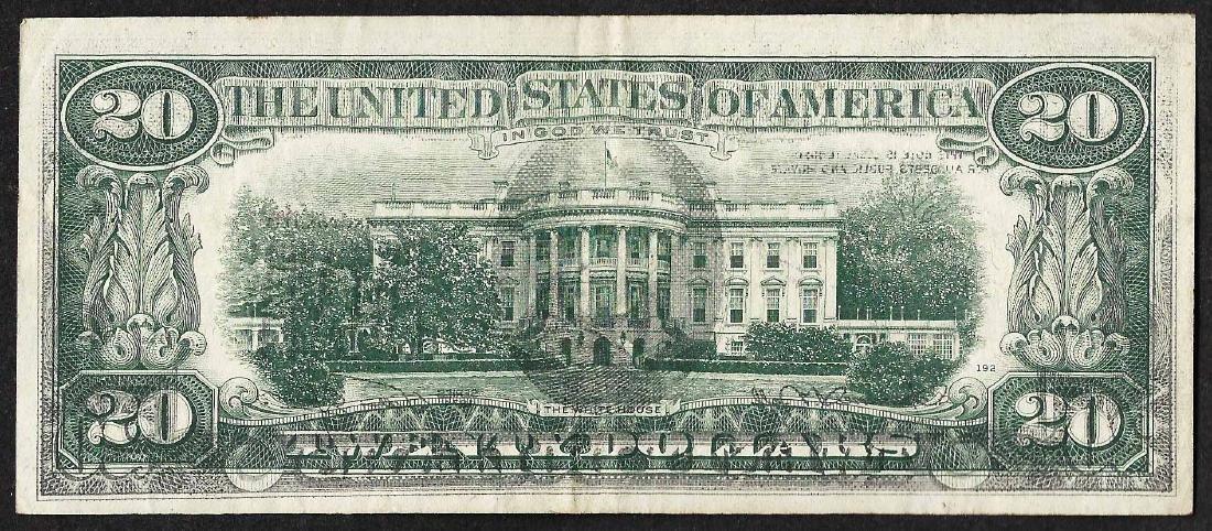 1974 $20 Federal Reserve Note Full Offset ERROR - 2