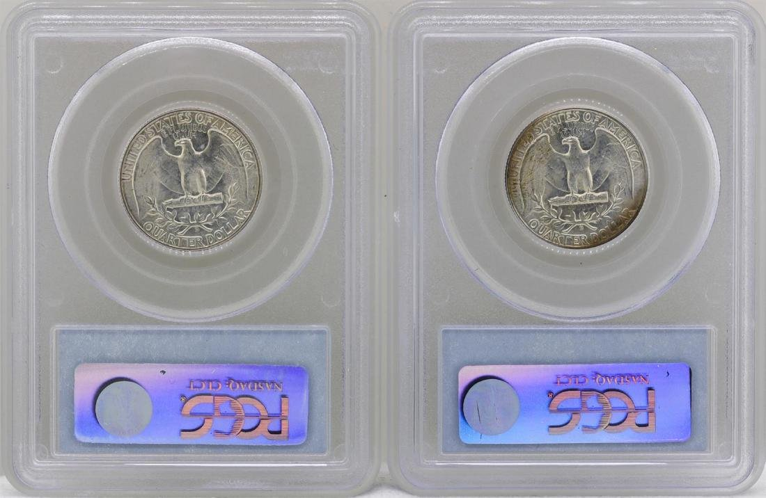 Lot of (2) 1949-D Washington Quarter Coins PCGS MS65 - 2