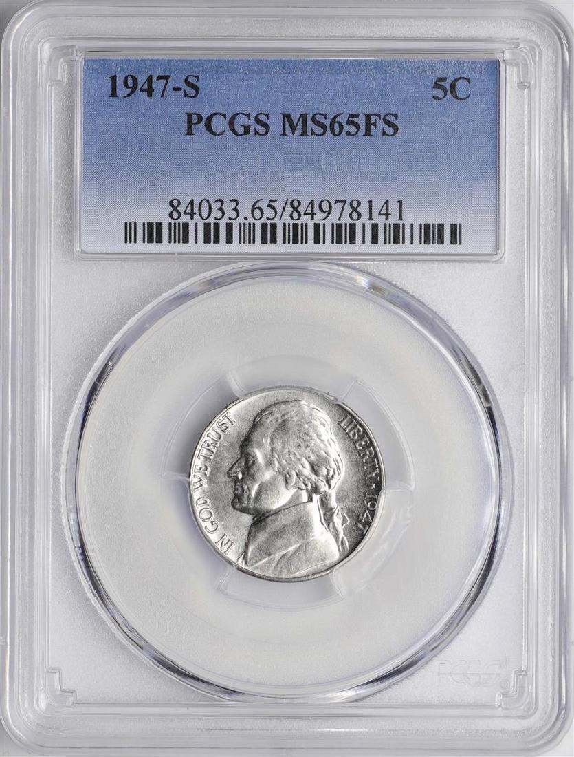 1947-S Jefferson Nickel Coin PCGS MS65FS