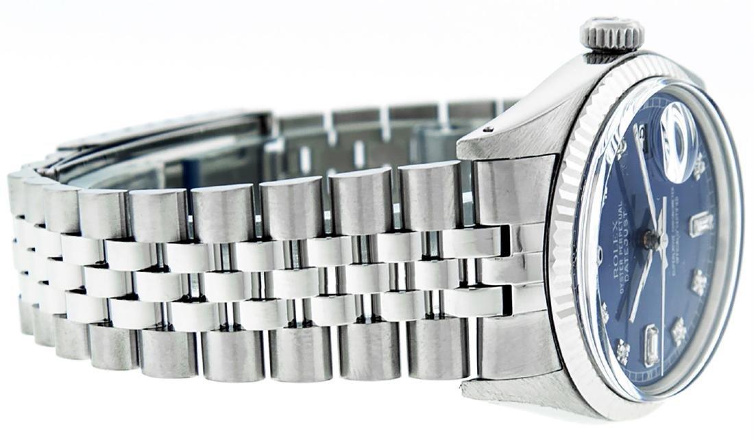 Rolex Men's Stainless Blue Diamond 36MM Datejust - 2