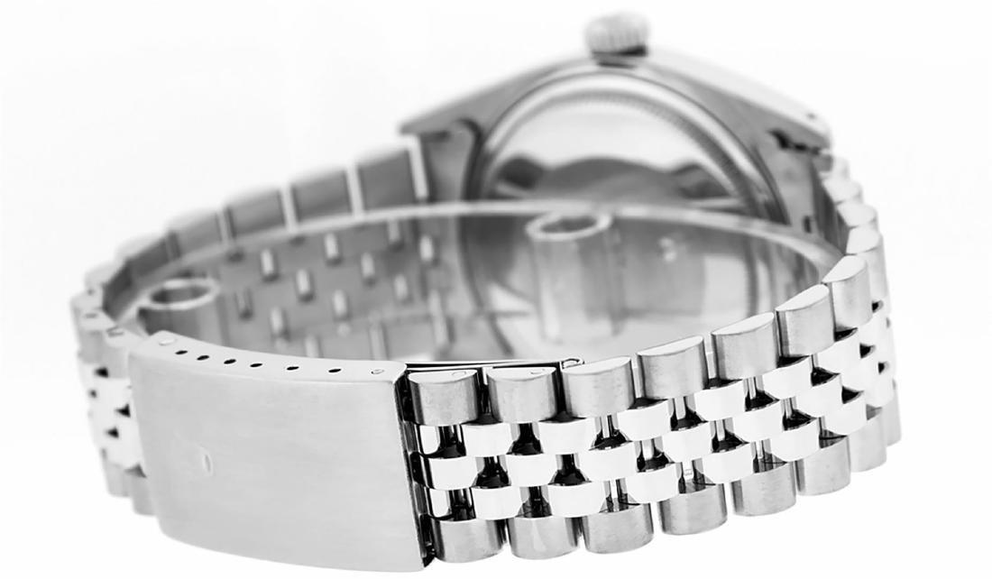 Rolex Men's Stainless Blue Diamond 36MM Datejust - 6