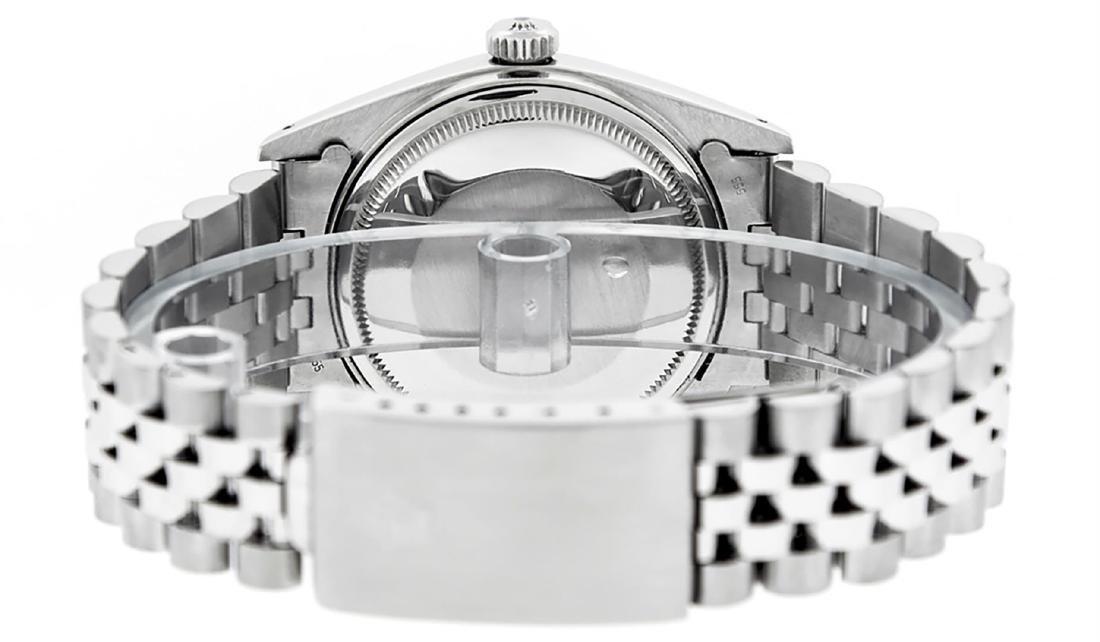 Rolex Men's Stainless Blue Diamond 36MM Datejust - 7