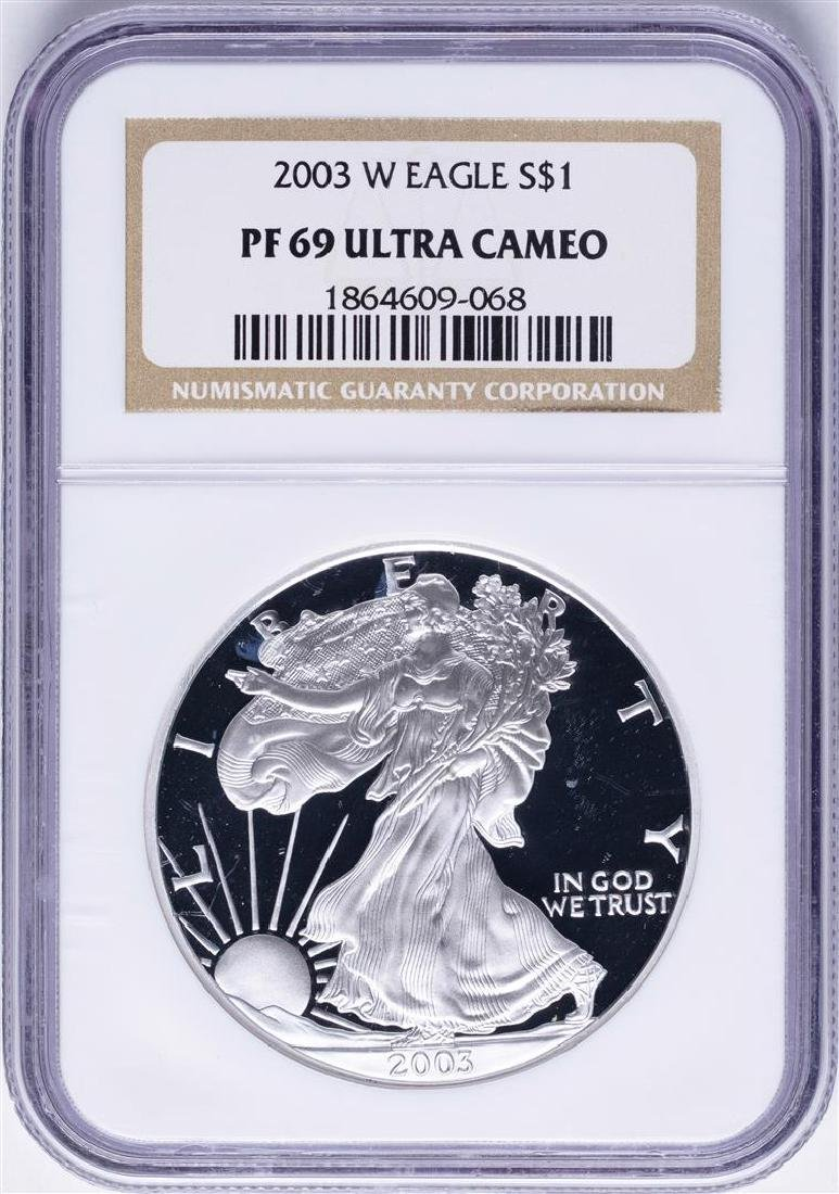 2003-W $1 American Silver Eagle Proof Coin NGC PF69