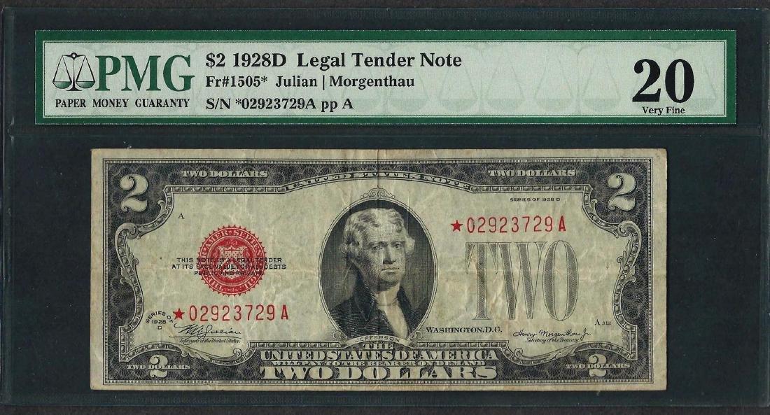 1928D $2 Legal Tender STAR Note Fr.1505* PMG Very Fine