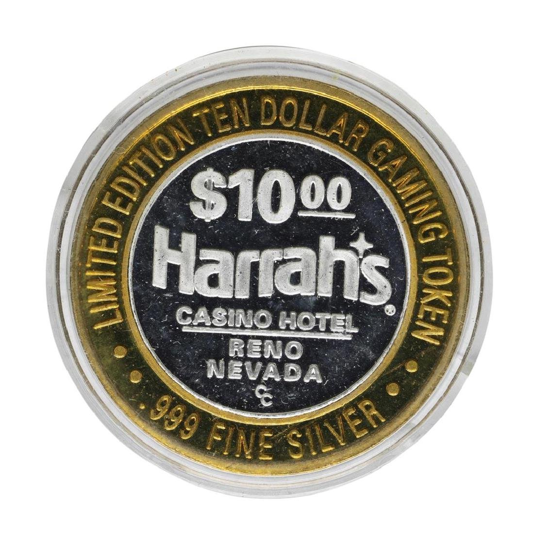 .999 Silver Harrahs Casino Reno Nevada $10 Casino